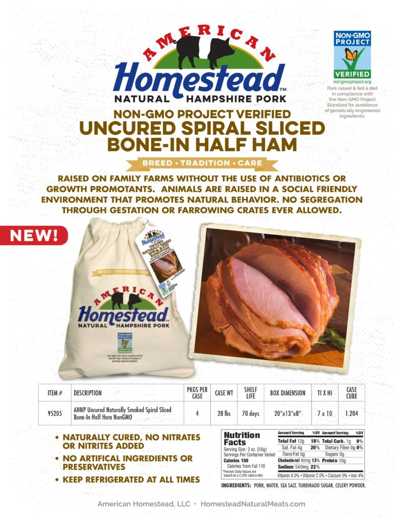 American Homestead Holiday Ham Sell Sheet