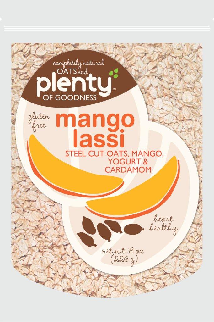 oats and plenty of goodness mango lassi design exploration