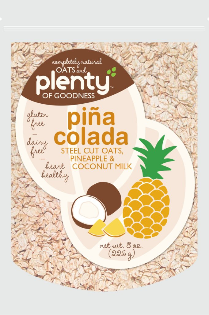 oats and plenty of goodness pina colada design exploration