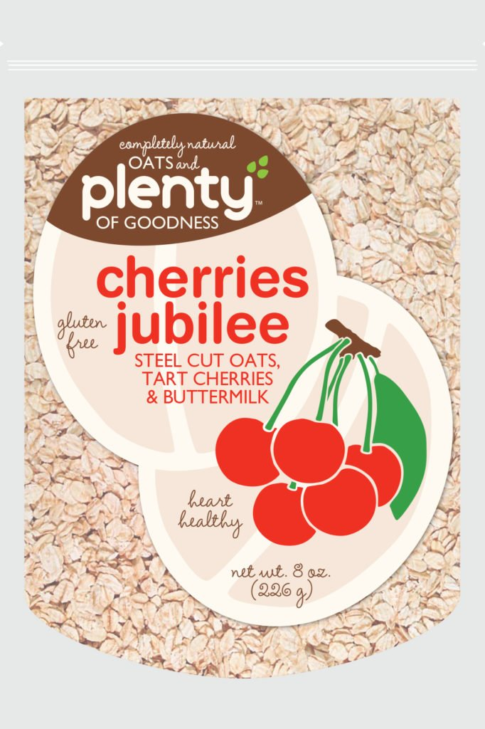 oats and plenty of goodness cherries jubilee design exploration